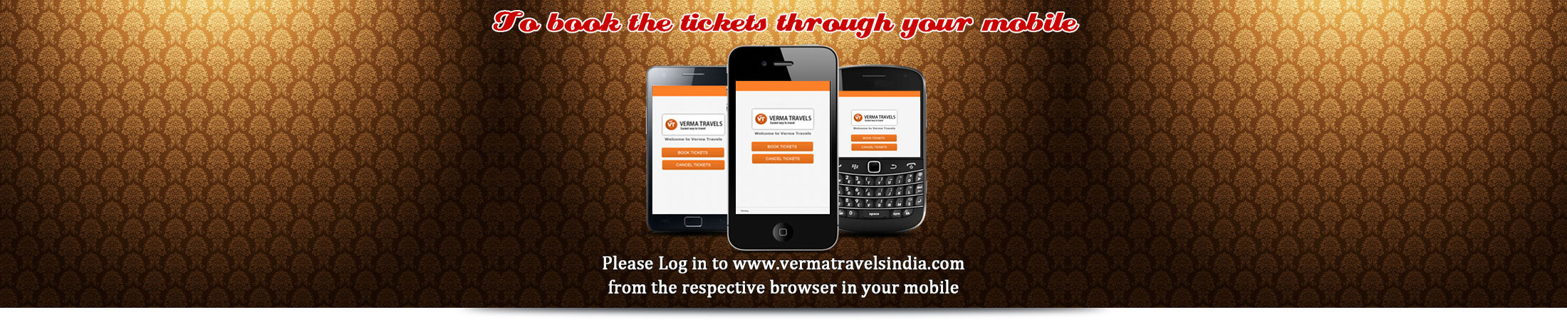 Verma Travels - Book Tickets